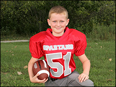 Youth sports football player